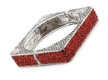 Image of Square Rhinestone Bracelet