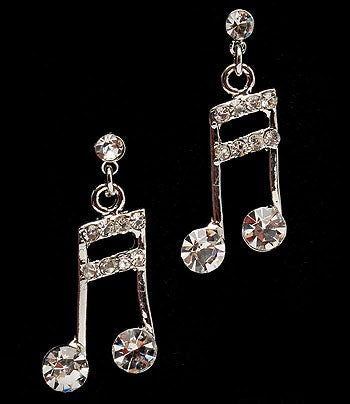 Image of MUSIC NOTE Earring in Clear