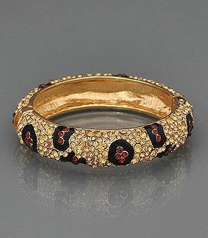 Image of Animal Print Bangle Bracelet
