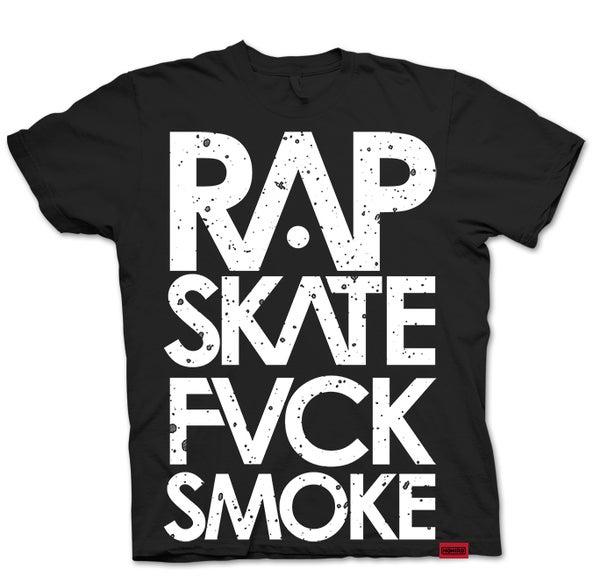 RAP SKATE FVCK SMOKE (BLACK) - HONIRO STORE