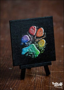 Image of 4x4 Canvas Paw Print (b)