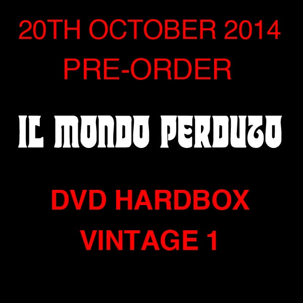Image of IL MONDO PERDUTO DVD (Hardbox, Design Vintage 1)