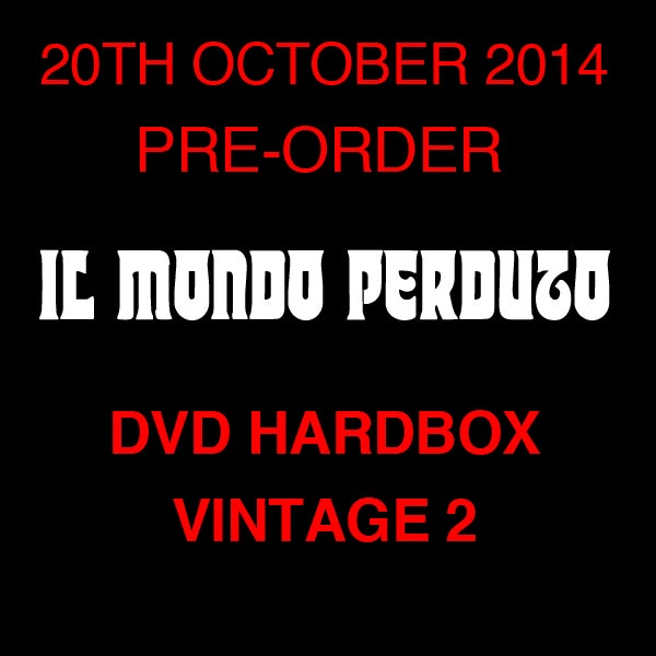 Image of IL MONDO PERDUTO DVD (Hardbox, Design Vintage 2)