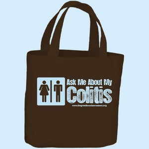 Image of Ask Me About My Colitis Tote Bag