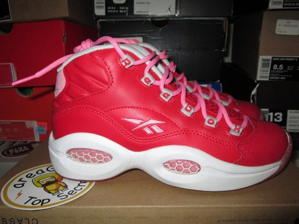 """Reebok Question Mid """"Scarlet/Light Pink"""" GS - areaGS - KIDS SIZE ONLY"""