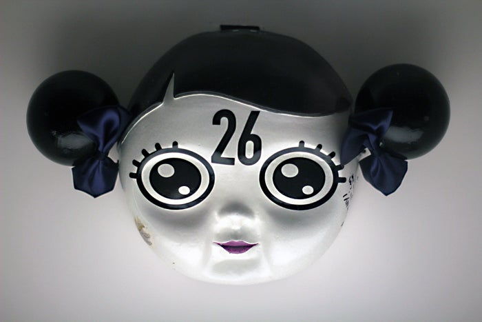 """Image of Collectible Signed Mask from The Birthday Massacre """"Looking Glass"""" Video"""
