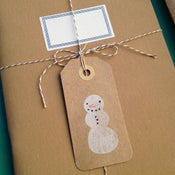 Image of Snowman Tags set/3