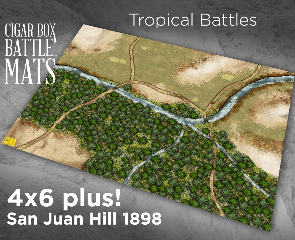 Image of Tropical Gaming Battle Mat --  4'x6' plus  -- #125