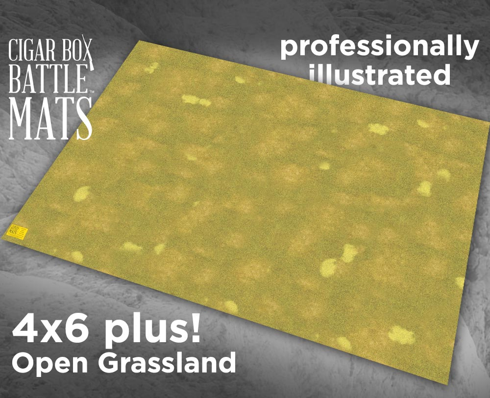 Image of Grassland Gaming Battle Mat --  4'x6' plus  -- #119