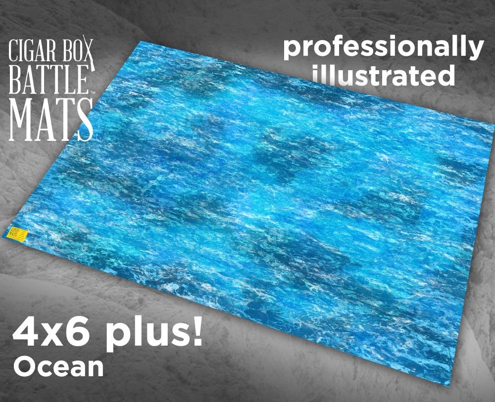 Ocean Gaming Battle Mat 4 X6 Plus 105 Cigar Box