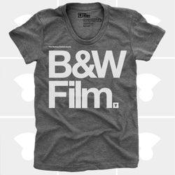 Image of Black & White Film (Women) Typography Tshirt, Camera, Photography