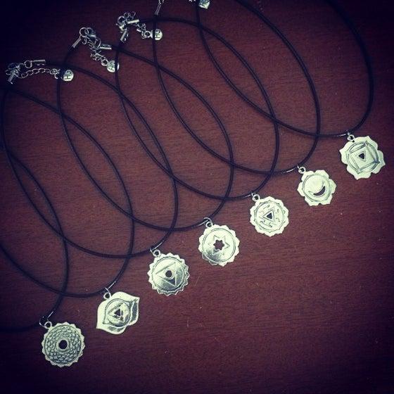 Image of Chakra charm choker & necklace