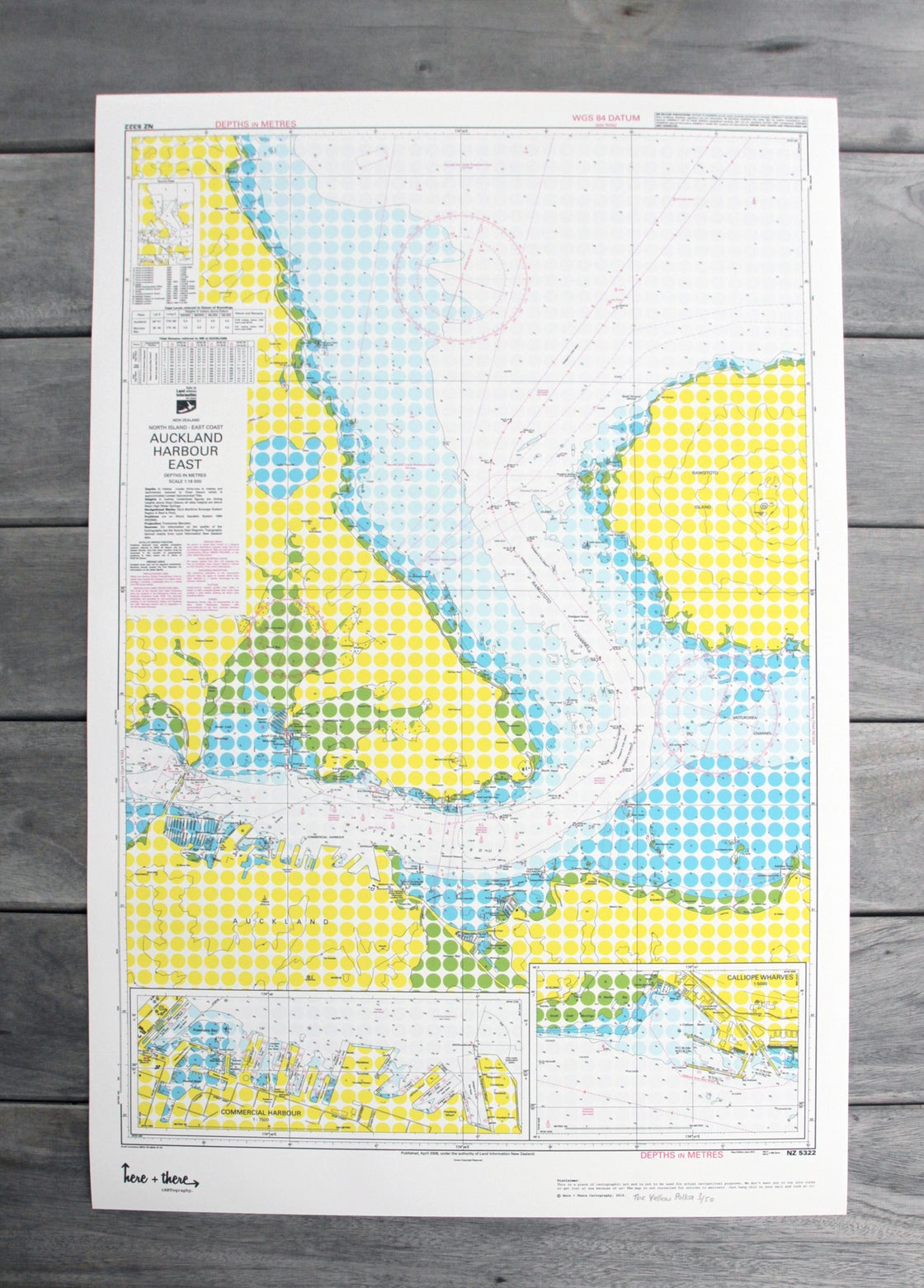 Image of Auckland Harbour - Yellow Polka