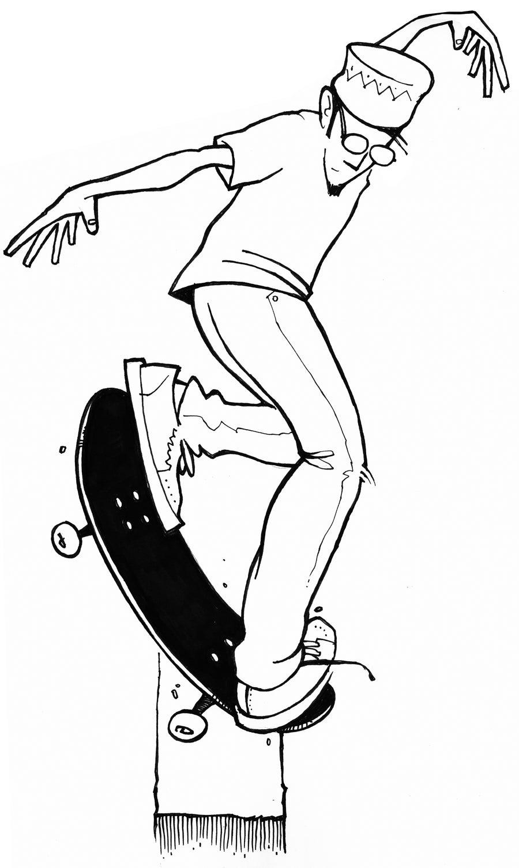 Image of LETTUS BEE / Eric Koston Original Ink Drawing