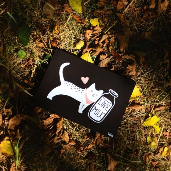 """Image of Carte Postcard """"Love milk"""""""