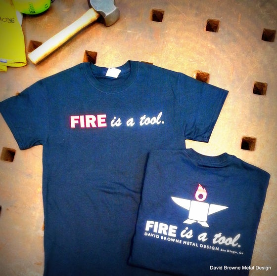 Image of FIRE IS A TOOL Short and long sleeve TEES Anvil Logo