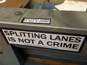 Image of Splitting Lanes Is Not A Crime Sticker Pack