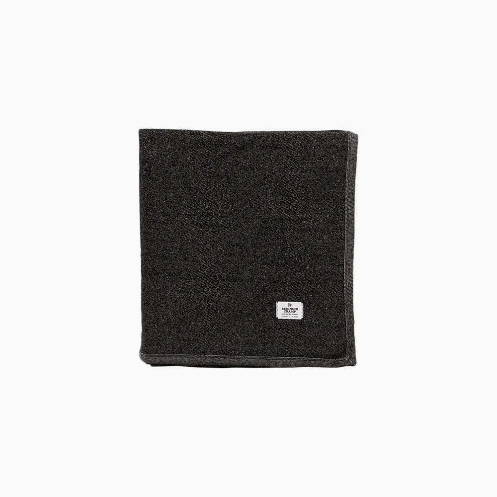 Image of Reigning Champ Tiger Fleece Blanket - BLACK/NATURAL