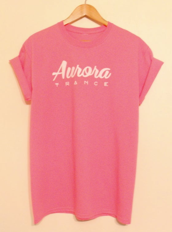 Image of Pink original logo t-shirt