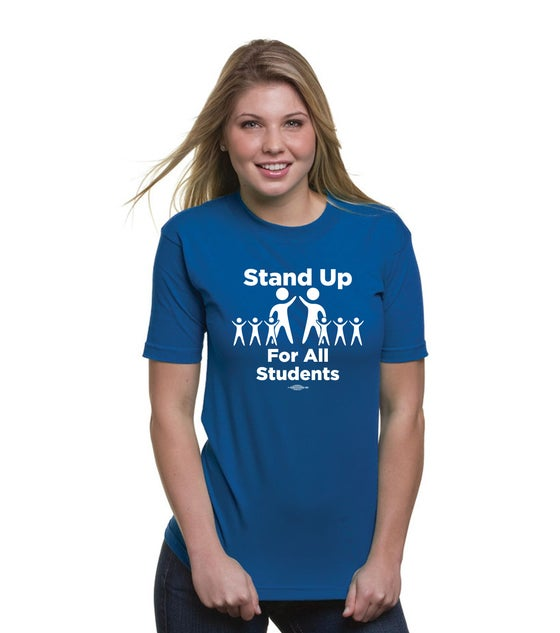 Image of Stand Up for All Students! Bayside Union Made Unisex T-Shirts