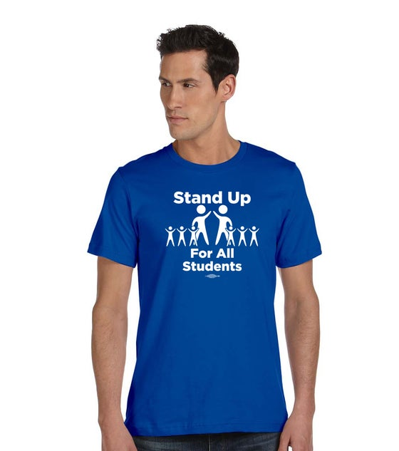 Image of Stand Up for All Students! Bella + Canvas Unisex Made in the USA Jersey Short-Sleeve T-Shirts