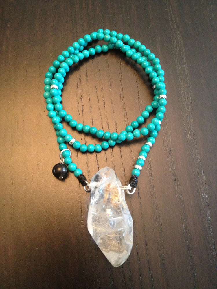 Image of Lean Classic Infinity Necklace Turquoise