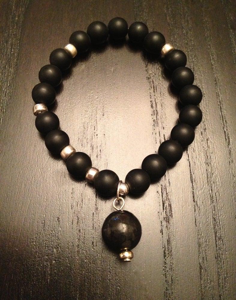 Image of Infinity Wrist Mala Black Onyx