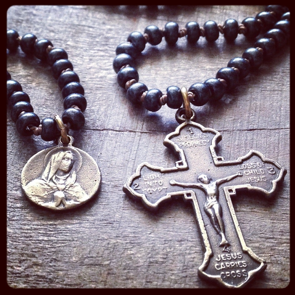 Image of SEVEN SORROWS scapular necklace