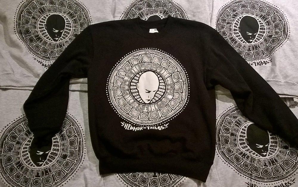 Image of Hedmuk X The Tribes #3 - Sweatshirt #002 - Black w/ White