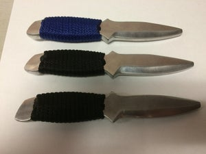 Image of aluminum training knife (single edge)