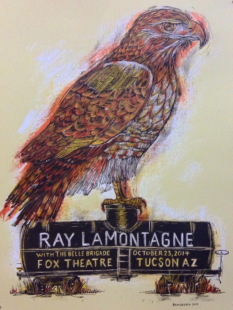 Image of Ray LaMontagne Tucson poster