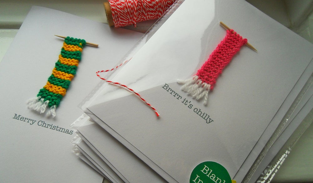Image of Hand knitted Christmas Card