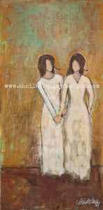 """Image of """"Double Portion"""" mixed media original"""