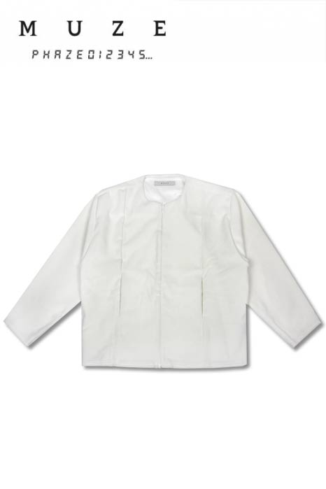 Image of ANGORA WOOL BOMBER JACKET(WHITE)