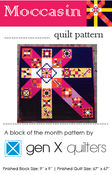 Image of Moccasin Sampler Quilt Pattern - Hard Copy Paper