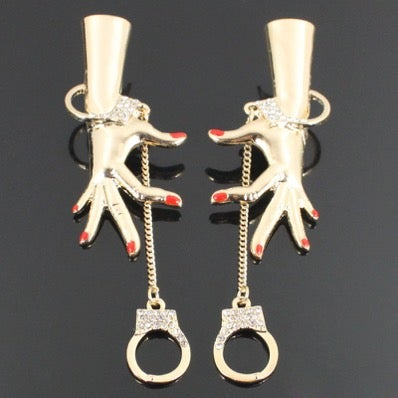 Image of HAND CUFFED HANDS EARRINGS