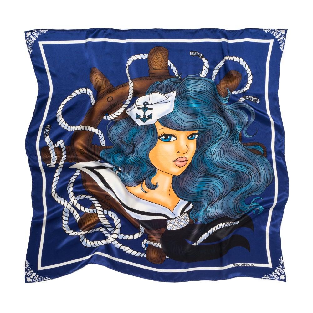 Image of Arlen - Graphic Silk Scarf