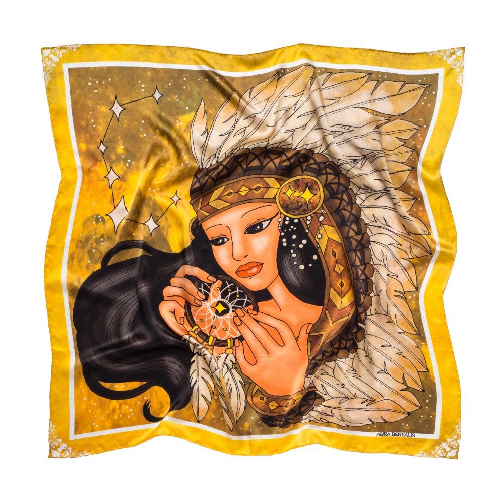 Image of Liora - Graphic Silk Scarf