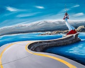 Image of Ogden Point Seawall 8x10 Photographic Print