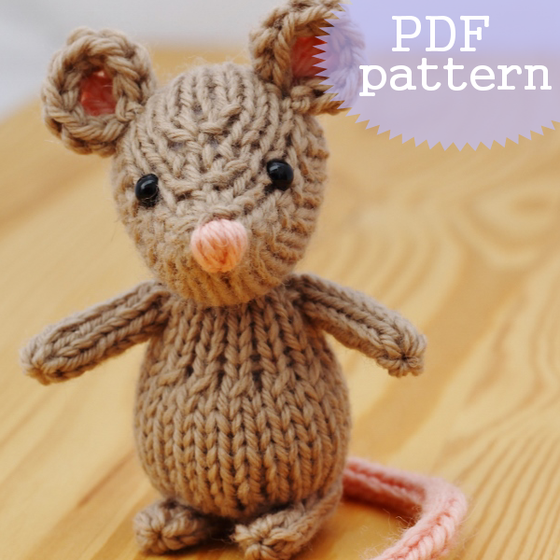 Image of 0Marisol the Mouse Knitting Pattern