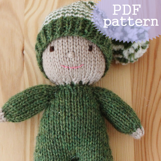 Image of Acorn The Elf Knitting Pattern