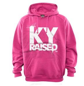Image of KY Raised Pink / White Hooded Sweatshirt