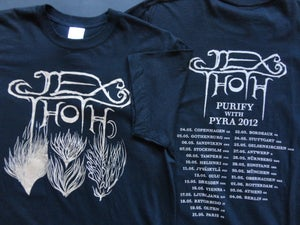 Image of  Elementals Men's T w/ 2012 European tour dates on back