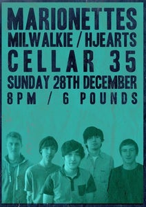 Image of Marionettes live @ Cellar 35 28/12/14 Ticket
