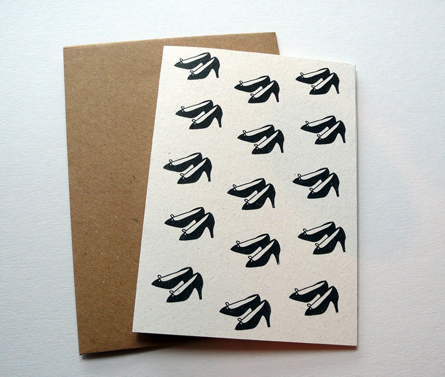 Image of Stilletto Heels Pattern Greetings Card, A7 size