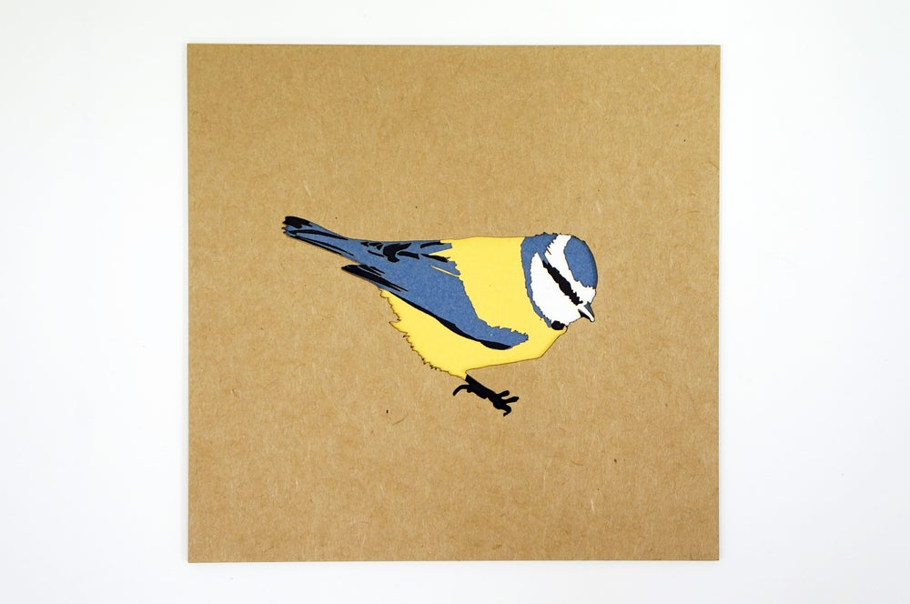 Image of Paper Blue Tit Poster
