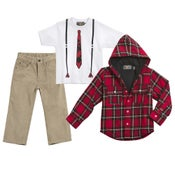 Image of 3PC Suspender T-shirt Set
