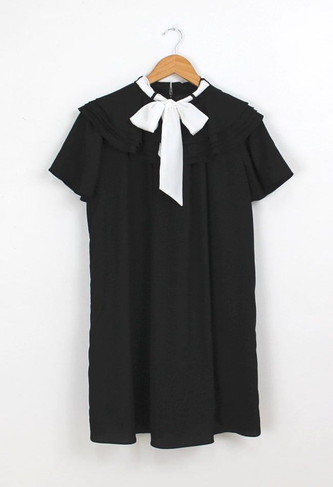 Image of RUFFLE BOW DRESS
