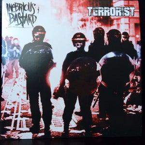 "Image of INEBRIOUS BASTARD / TERRORIST - SPLIT 7"""
