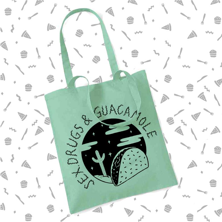 Image of Sex, Drugs & Guacamole Tote Bag